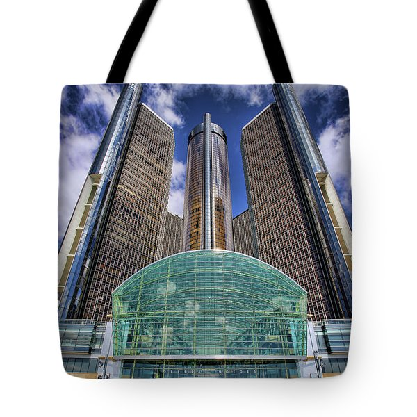 Rencen Detroit Gm Renaissance Center Tote Bag by Gordon Dean II