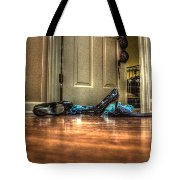 Tote Bag featuring the photograph Rendezvous Do Not Disturb 05 by Andy Lawless