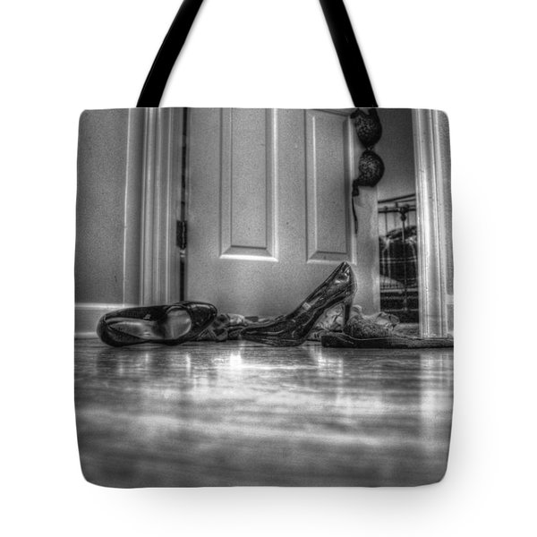 Tote Bag featuring the photograph Rendezvous Do Not Disturb 05 Bw by Andy Lawless