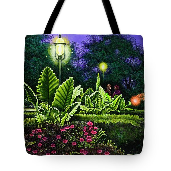 Rendezvous In The Park Tote Bag by Michael Frank