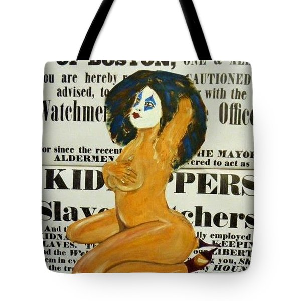 Renee  Caution Tote Bag by Deedee Williams