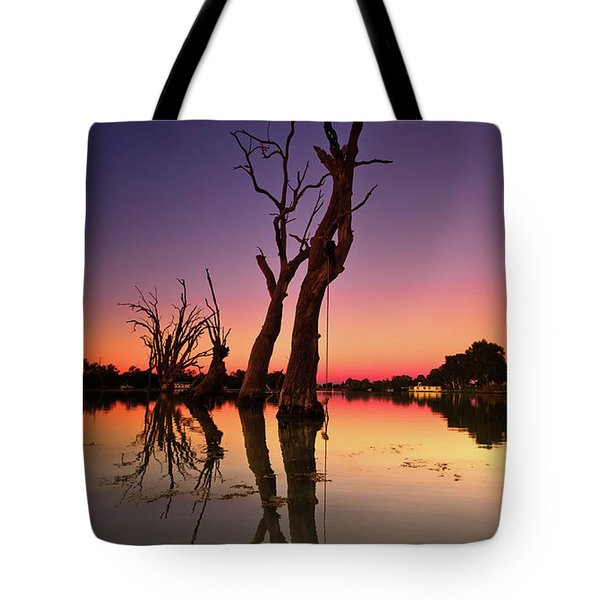 Renmark South Australia Sunset Tote Bag by Bill Robinson