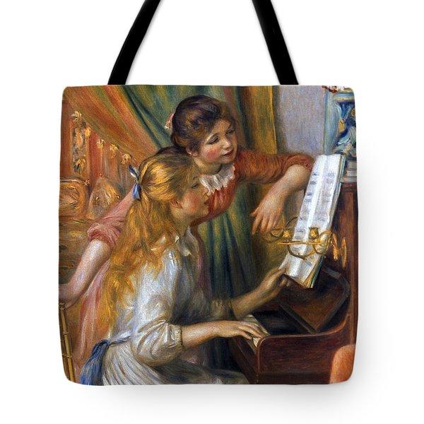 Renoir: Girls/piano, 1892 Tote Bag by Granger