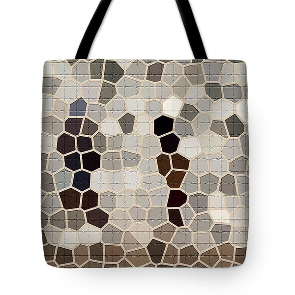 Repair The Cracks In Chamois, Beige And Cadet Gray Colors For Tile Series One Tote Bag