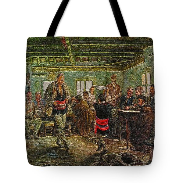 Tote Bag featuring the painting replica of Ruchenitsa by Nikola Tanev by Pemaro