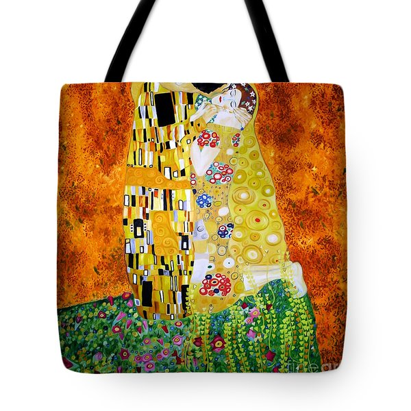 Reproduction Of The Kiss By Gustav Klimt Tote Bag by Zedi