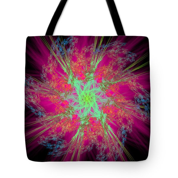 Tote Bag featuring the digital art Reprovideo by Andrew Kotlinski