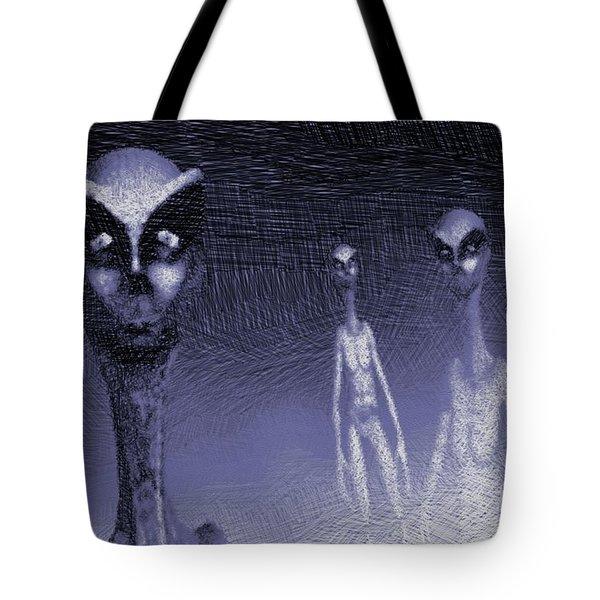 Reptilian Aliens Tote Bag