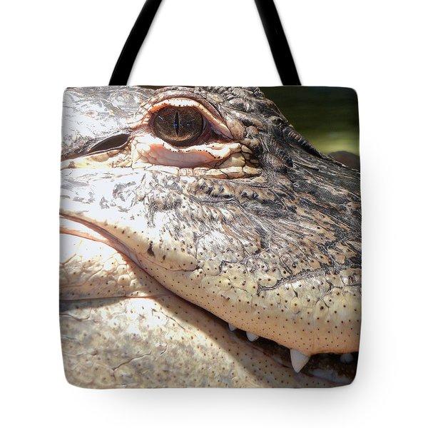 Reptilian Smile Tote Bag