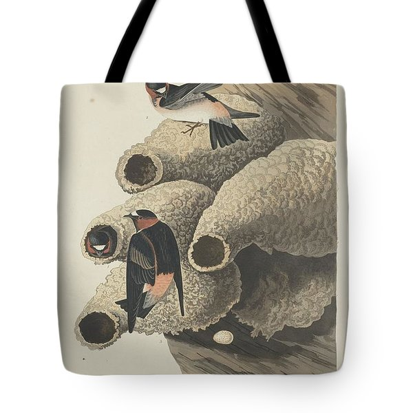 Republican Cliff Swallow Tote Bag by Anton Oreshkin