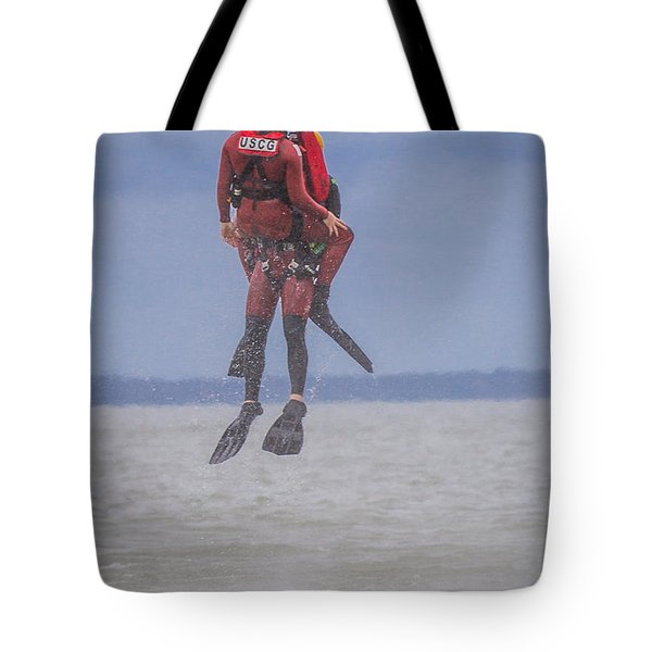 Tote Bag featuring the photograph Rescue At Sea by Gregory Daley  PPSA