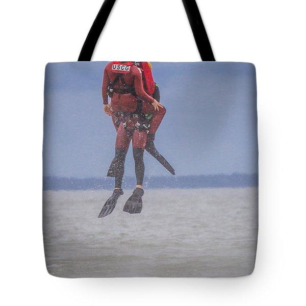 Rescue At Sea Tote Bag