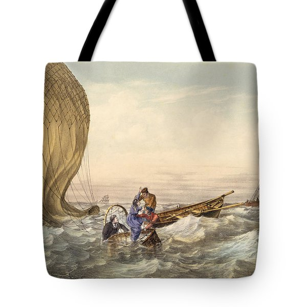 Rescue At Sea Of Downed Balloonists Tote Bag
