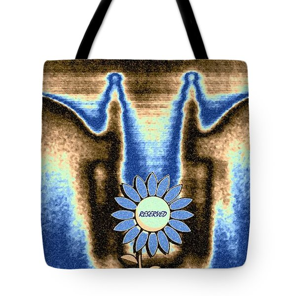 Tote Bag featuring the mixed media Reserved by Will Borden