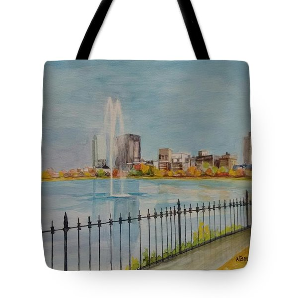 Reservoir In Central Park Tote Bag