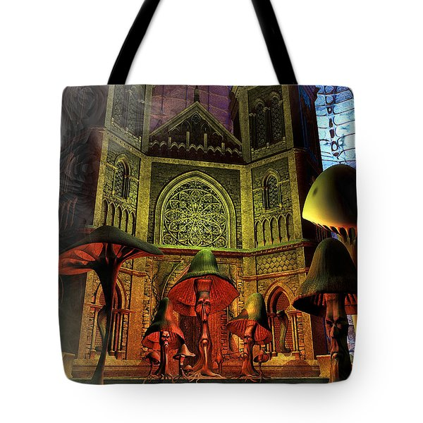 Residence Of The Mushroom Folk Tote Bag by Jutta Maria Pusl