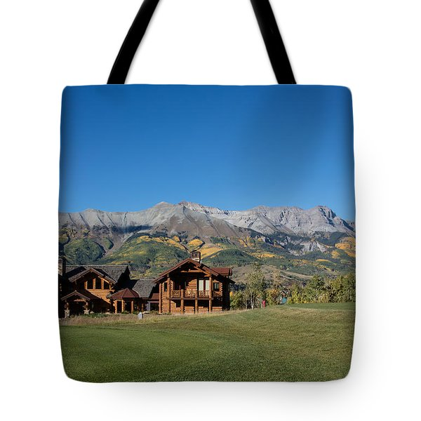 Residences In Mountain Village -- A Planned Community Adjacent To Telluride Tote Bag by Carol M Highsmith