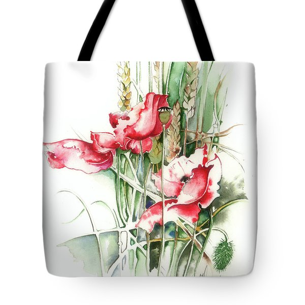 Residents Of Green Fields Tote Bag by Anna Ewa Miarczynska