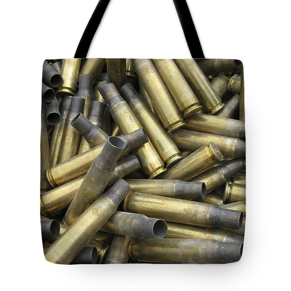 Residual Ammunition Casing Materials Tote Bag by Stocktrek Images
