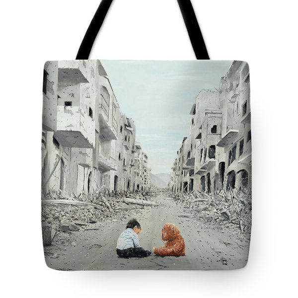 Tote Bag featuring the painting Resilience by Kevin Daly