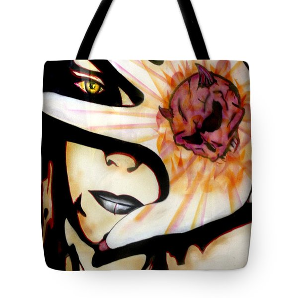 Tote Bag featuring the painting Resistance by Tbone Oliver
