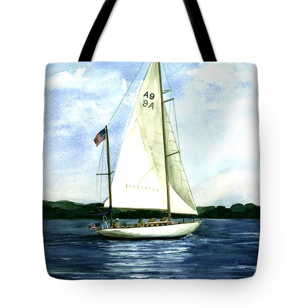 Tote Bag featuring the painting Resolute by Nancy Patterson