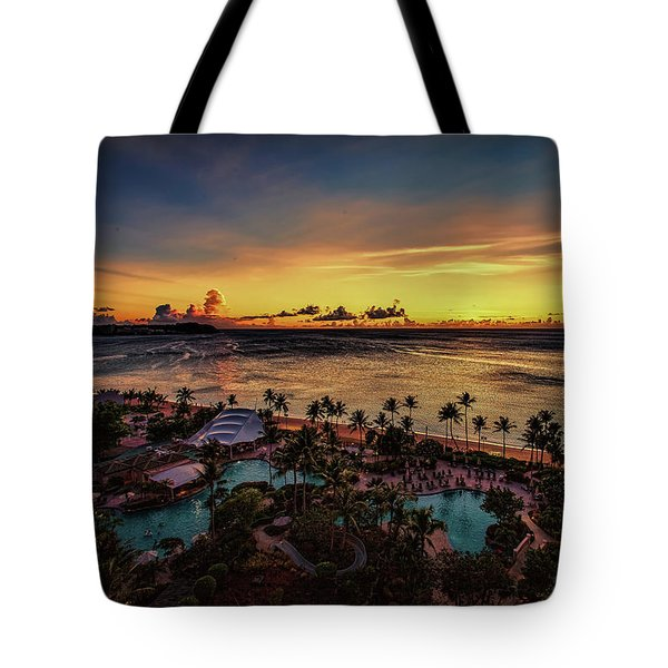 Resort Sunset Tote Bag