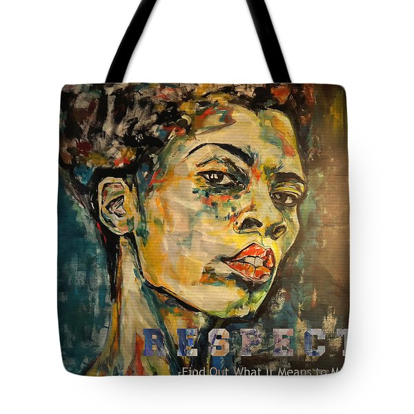 Respect Mixed Media Tote Bag