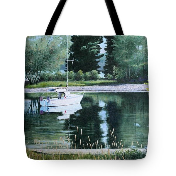 Rest At Pinhey's Point Tote Bag
