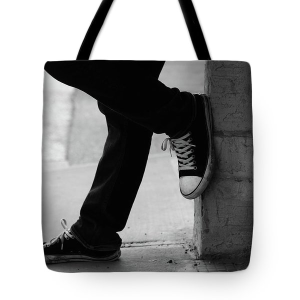 Tote Bag featuring the photograph Rest Then Tackle  by Empty Wall