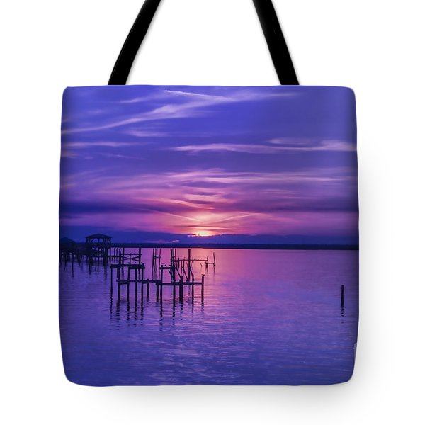 Rest Well World Purple Sunset Tote Bag