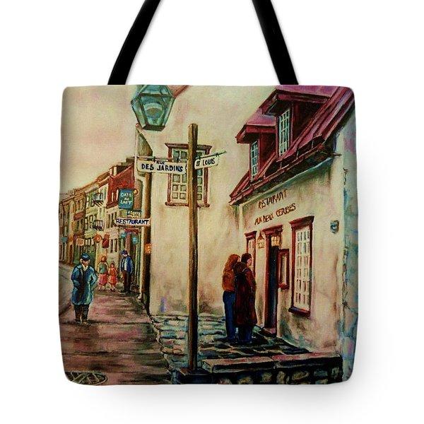 Restaurant Aux Anciens Canadiens Quebec City Tote Bag by Carole Spandau