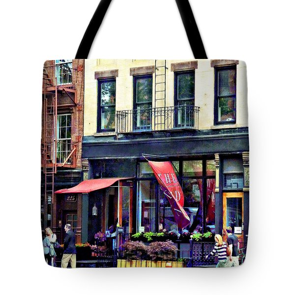 Restaurant In Chelsea Tote Bag by Susan Savad