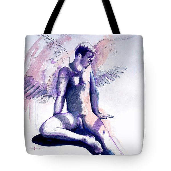 Resting Angel Tote Bag