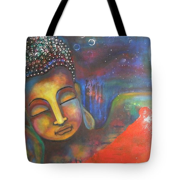Buddha Resting Under The Full Moon  Tote Bag