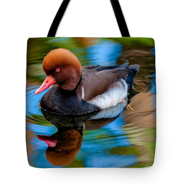 Resting In Pool Of Colors Tote Bag by Christopher Holmes