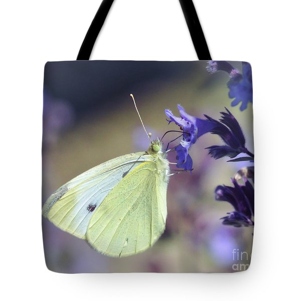 Tote Bag featuring the photograph Resting In The Purple by Kerri Farley