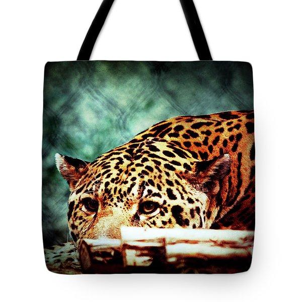 Resting Jaguar Tote Bag
