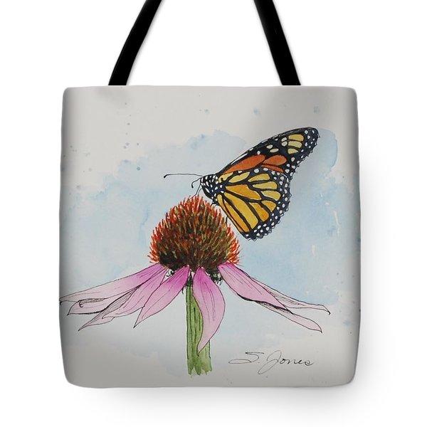 Resting Monarch Tote Bag