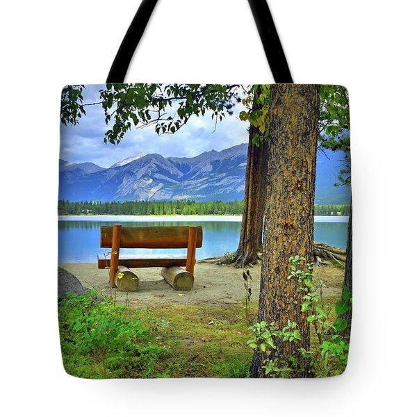 Tote Bag featuring the photograph Resting Place At Lake Annette by Tara Turner