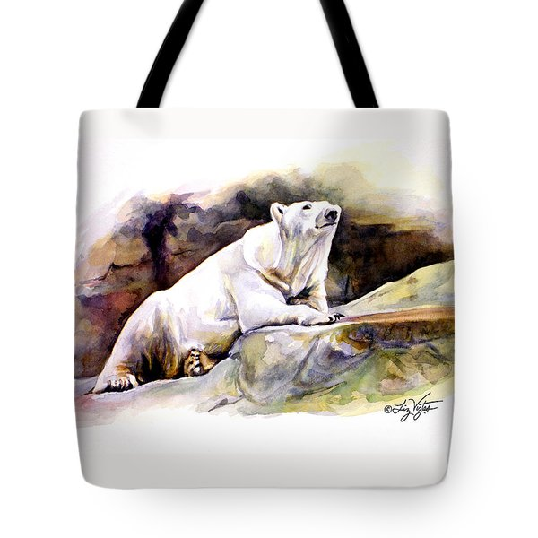Resting Polar Bear Tote Bag