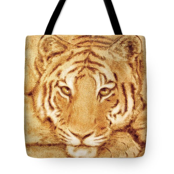 Resting Tiger Tote Bag