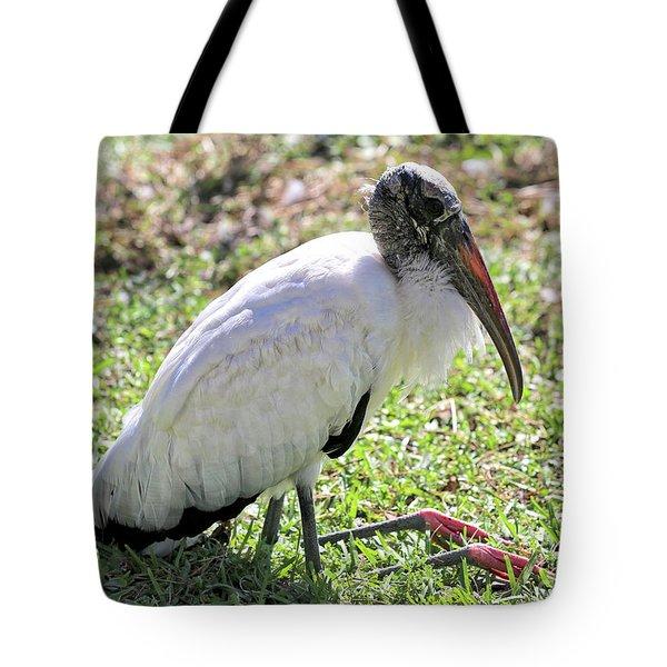 Resting Wood Stork Tote Bag