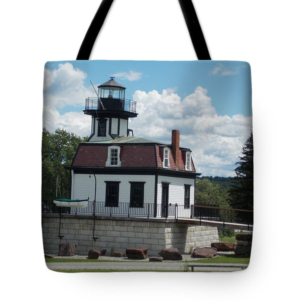 Restored Lighthouse Tote Bag