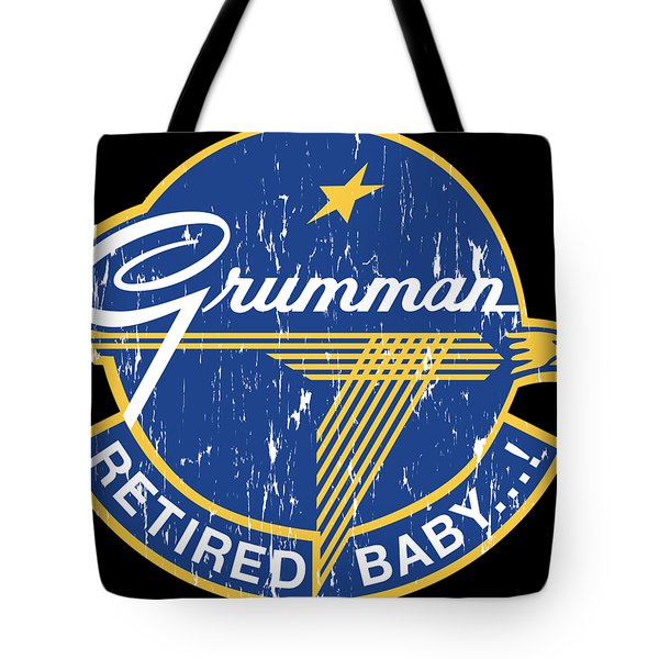 Retired Baby - Distressed Look Tote Bag