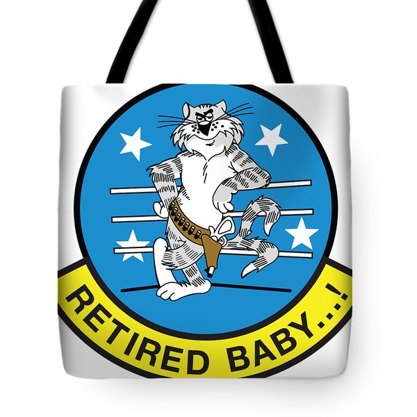 Retired Baby - Tomcat Tote Bag