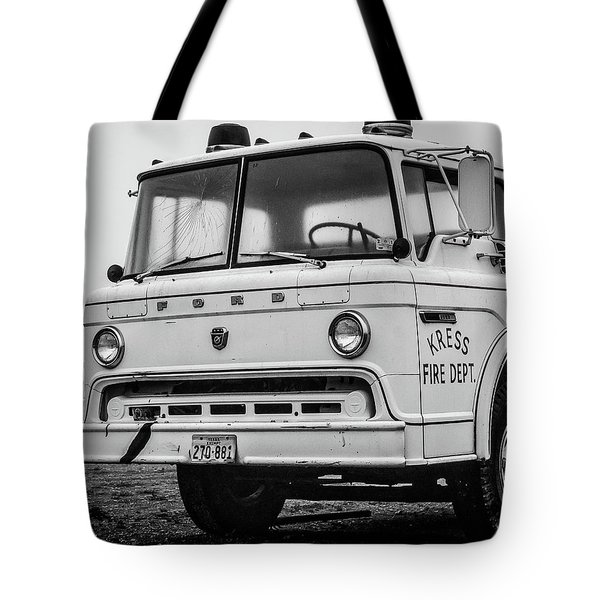 Retired Fire Truck Tote Bag