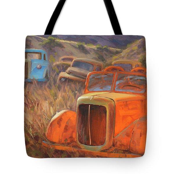 Retired Fireman Tote Bag
