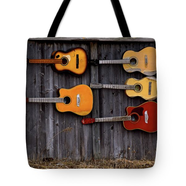 Retired Guitars  Tote Bag
