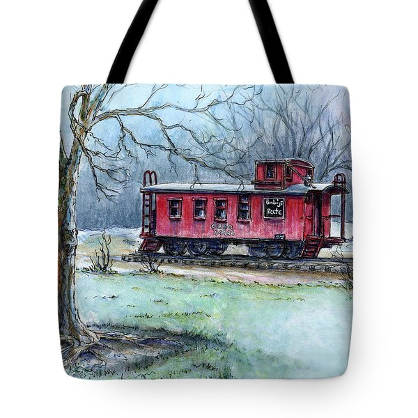 Retired Red Caboose Tote Bag